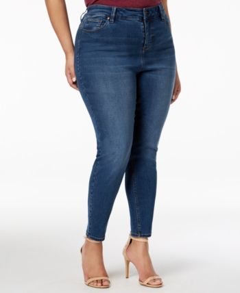 Trendy Plus Size High-Rise Skinny Ankle Jeans
