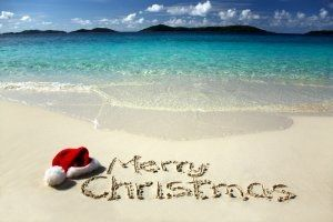 kiwi christmas at the beach