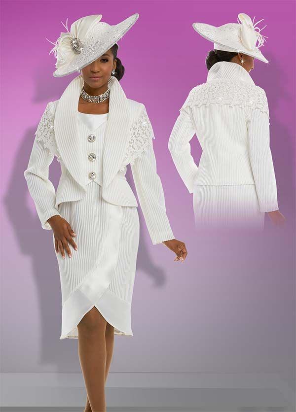 c1fd9051cf074 Donna Vinci 5595 Tulip Style Dress   Stand-Up Collar Jacket Set - Spring  2018 - Expressurway
