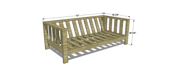 Dimensions for Free DIY Furniture Plans // How to Build an Outdoor Reef Sofa with Modifications for Cushions from Target