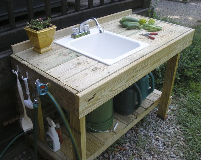 The Gardening Gallimaufry: New Potting Bench, Fried Okra Recipe