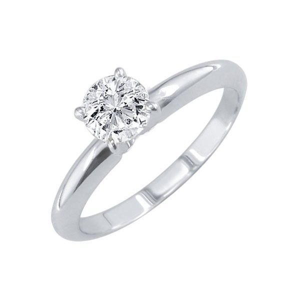 1 CT. T.W. 14 Karat White Gold Solitare Engagement Ring — Jensen Jewelers