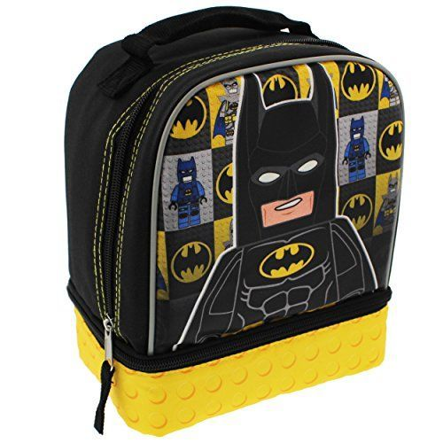 Lego Batman Soft Lunch Box (Black/Yellow) Lego Batman
