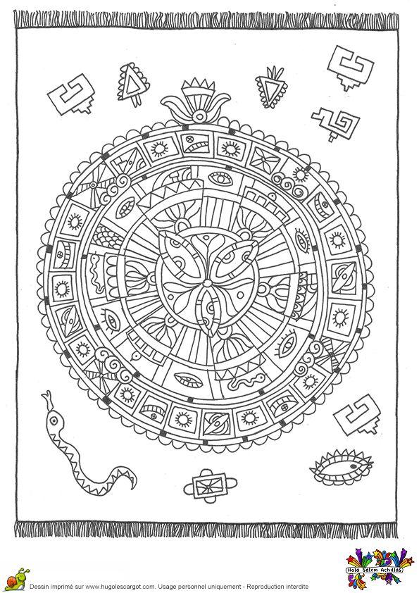 tapis calendrier maya