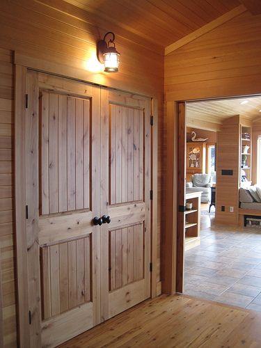 closet doors with inset board look