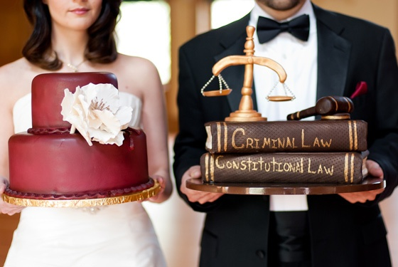 For our lawyer/science themed wedding - groom's cake