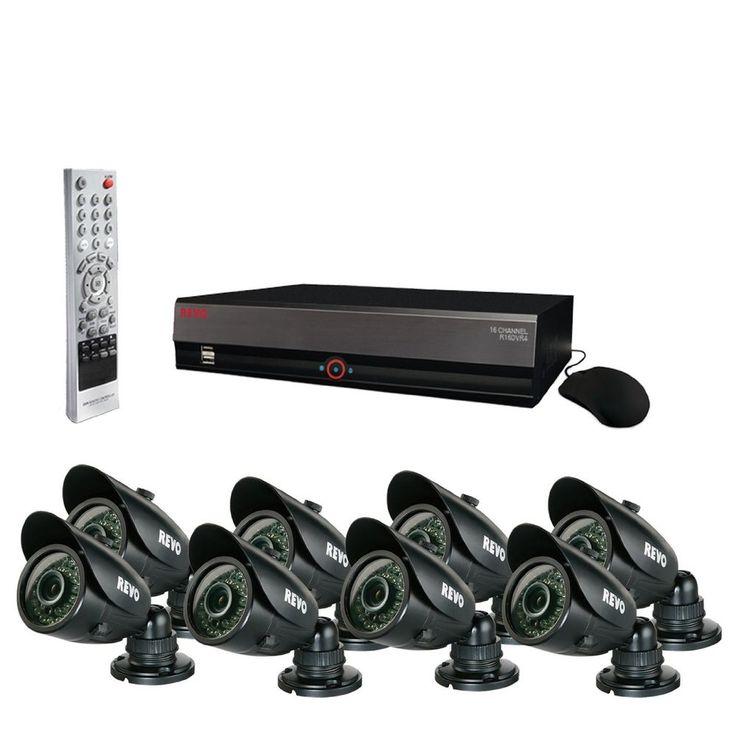 Revo 16 Channel 3TB Digital Video Recorder 8 700 TVL 100' Night Vision Cameras #RevoAmerica