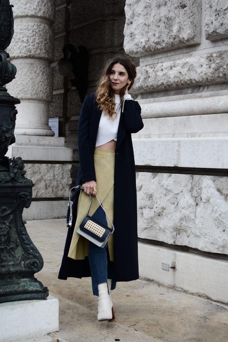 SKIRTS OVER PANTS - Sagan Bag and customized leather skirt