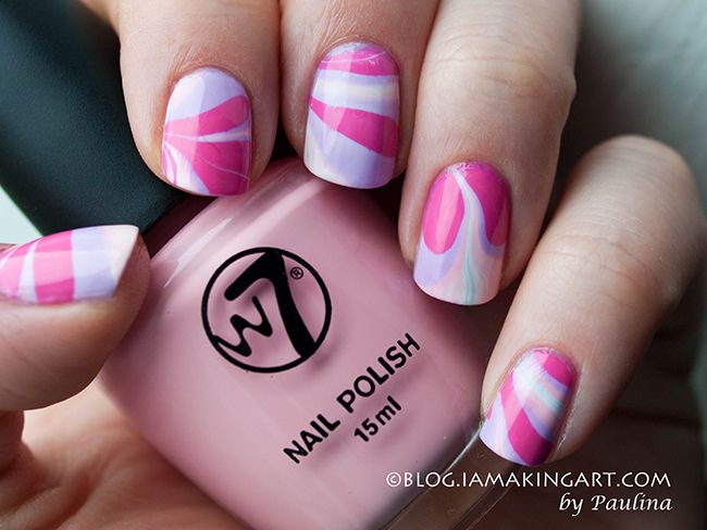 27 best Nails: Water Marble images on Pinterest | Nail scissors ...