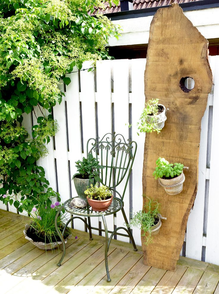 Greenery decor, uteplats, patio, kryddträdgård, balcony decor.