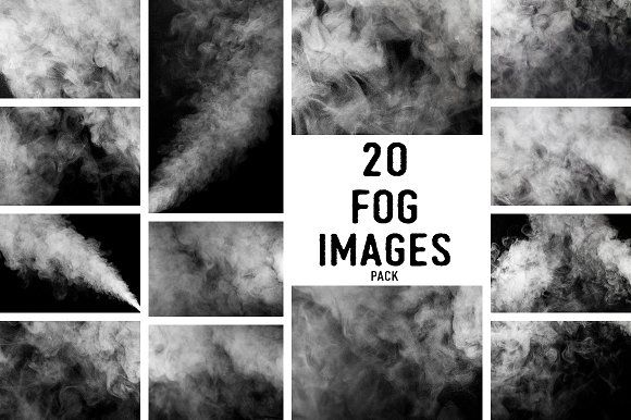 Fog and smoke images pack by MaxDesign on @creativemarket