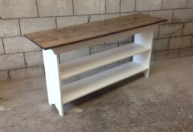"""Console Table - Sofa Table - Entryway Table - Book Shelf - TV Stand - Pine, 5 Foot, 60"""" by SquareNailFurniture on Etsy https://www.etsy.com/listing/235821497/console-table-sofa-table-entryway-table"""