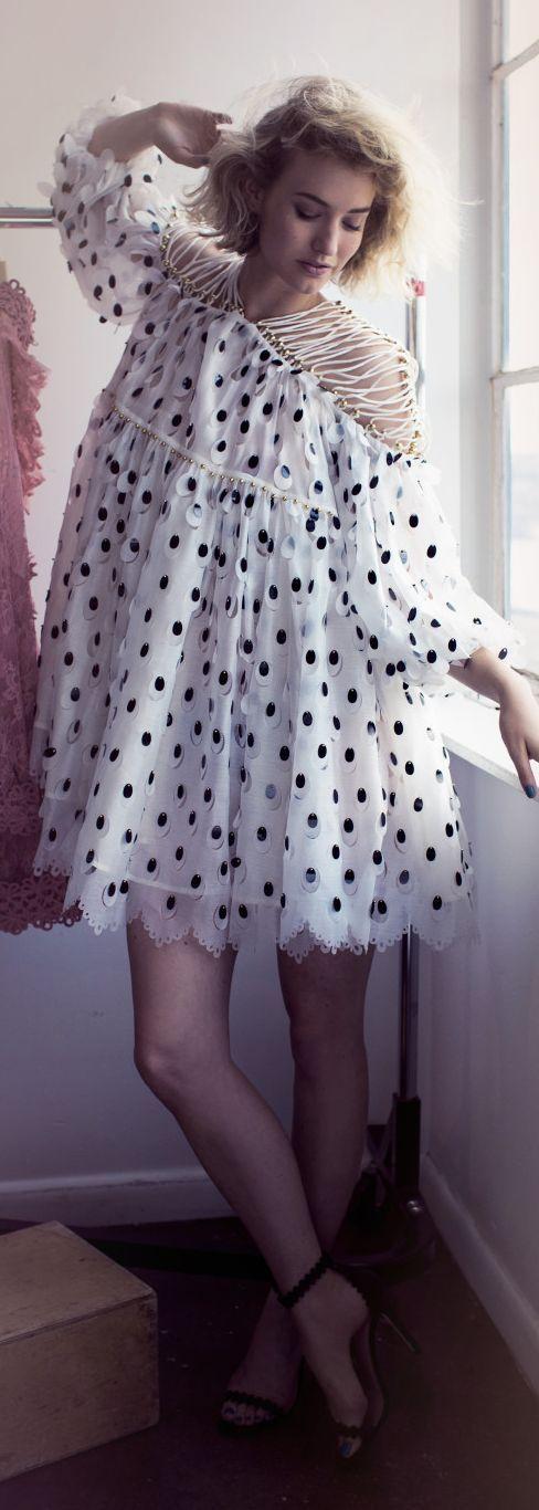 Zanita Bird Feather Inspired Zimmermann Little Dress