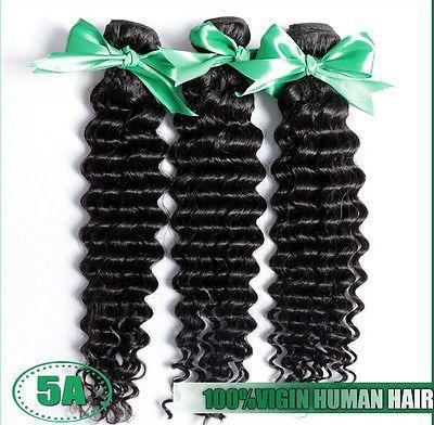 3Pcs/lot 12''-24'' 5A Virgin Malaysian Hair Extensions Deep Curly Human Hair