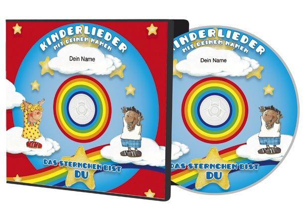 Das Sternchen bist Du, ein persönliches Geschenk, das den Kleinen eine Riesenfreude bereitet! Kinderlieder CD, in der der Name des Kindes über 40x vorkommt. #Kinderlieder #personalisiert