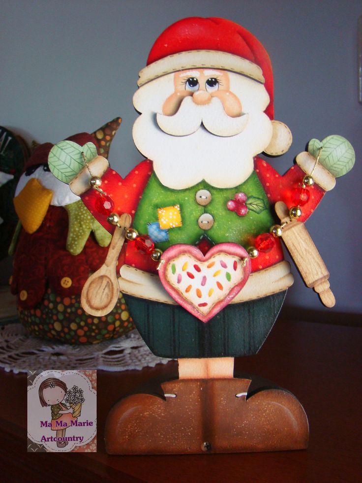 https://flic.kr/p/qgKrH3 | Papai Noel porta papel... |                                Mais uma peça da Duna Atelie..e pintada pela minha amiga Jô....decorando minha casa....