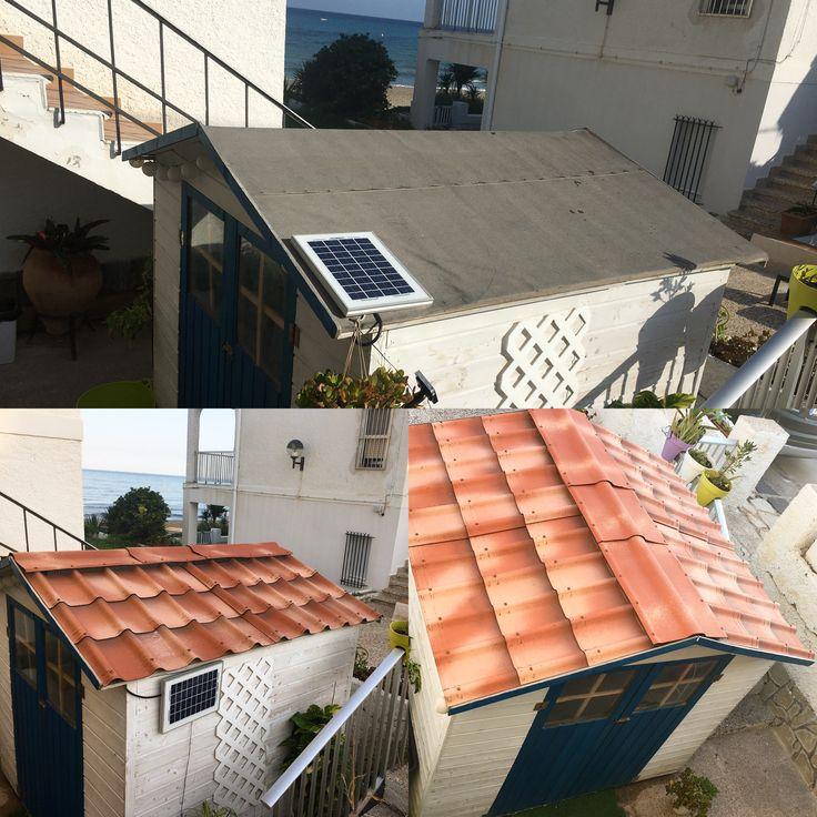 Un antes y un despu s renovaci n del techado asfaltico de for Casetas para terrazas