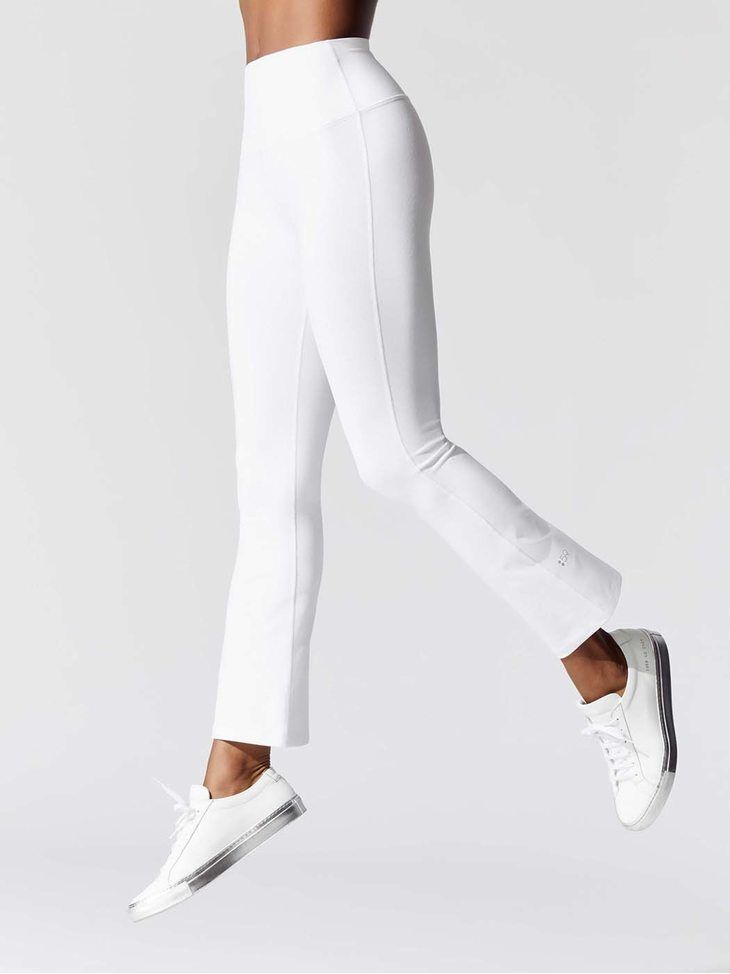 Splits59 Raquel Crop High Waist Tight Off White Sweatpants With Images Womens Sweatpants Off White Sweatpants Sweatpants