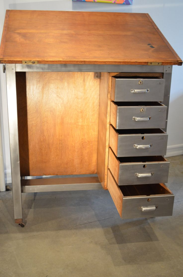 MidCentury 1950s Drafting Table Desk by FlippingVintage on Etsy, $1,250.00