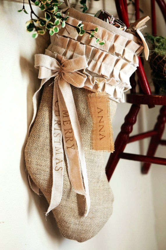 Find This Pin And More On Burlap Christmas Decor Ideas By Loveitsomuchcom.