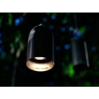 Leuchte FIRELIGHT schwarz - Kabel silber Glitzer