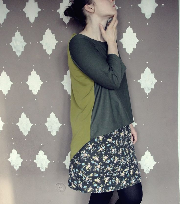 burda #103 2/2016. My pocket tee without a pocket;) #green #khaki #top #sewing #sewingpattern