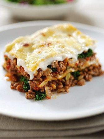 Beef and kale lasagne - Family and kids' recipes - MadeForMums