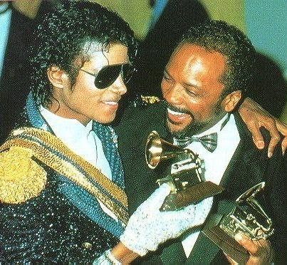 Michael and Quincy with awards