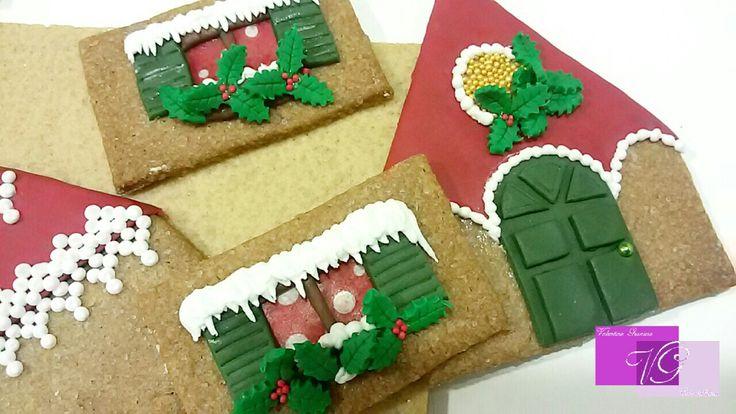 Gingerbread house #waferpaper #Esspapier #valentinagraniero #newstyle #natale
