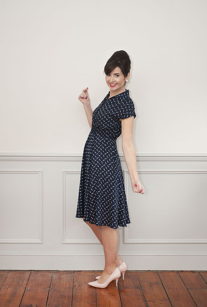 Sew Over It Penny Dress | The Penny Dress sewing pattern is a beautiful, easy-to-sew shirt dress. Stylish, modern but with a nod to the the 50s, Penny is a summer wardrobe staple.