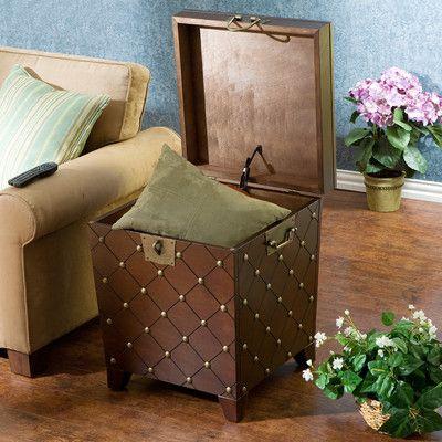 Wildon Home ® Shewsbury Nailhead Trunk End Table in Espresso & Reviews | Wayfair