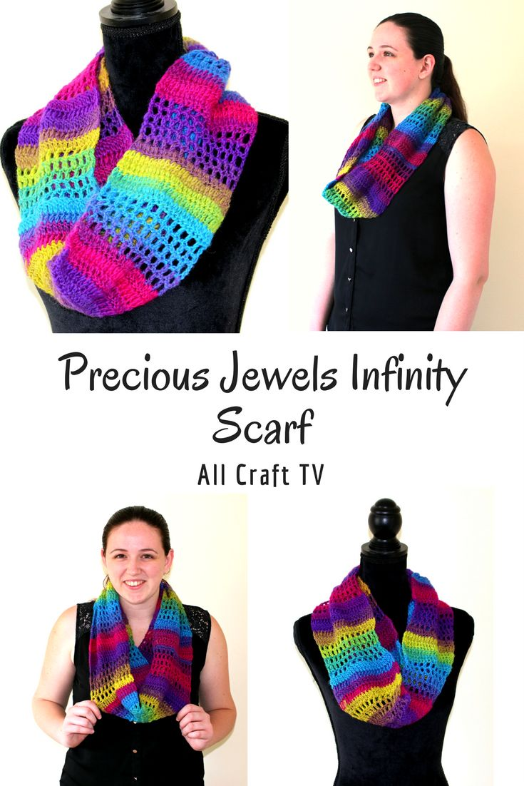 Crochet Precious Jewels Infinity Scarf - Isn't it so colourful and pretty?