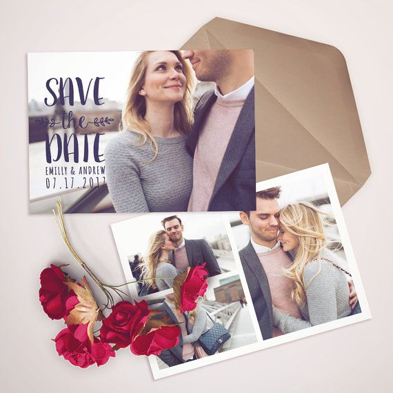 Save the Date Template for Photographers Save the by Salsaldesign