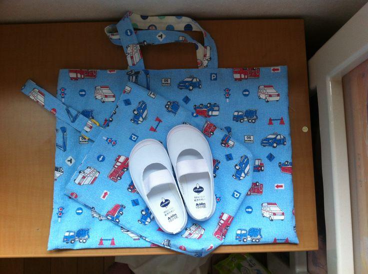Kid's lesson bag and shoe bag