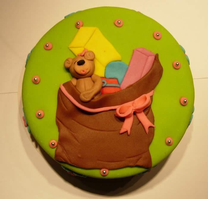 De zak van Sinterklaas-taart