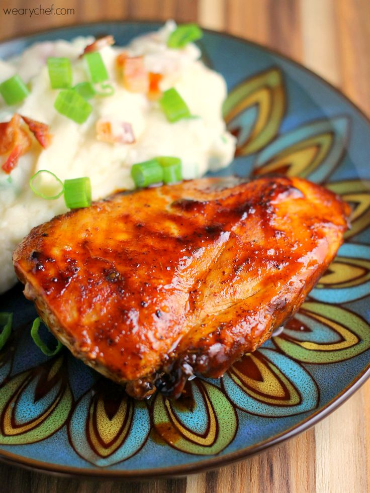 Enjoy perfect bbq chicken indoors with this quick and easy for What sides go with barbecue chicken