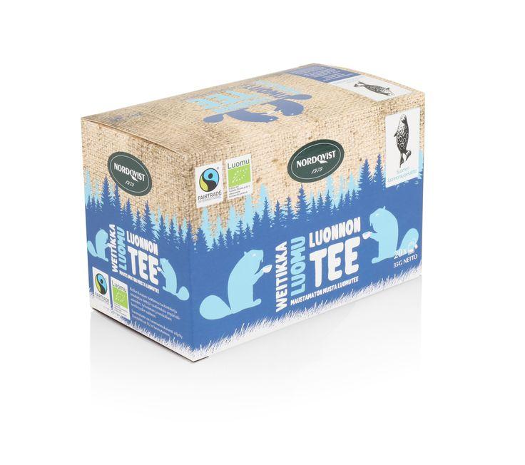 NEW Nordqvist organic tea box. Organic black tea.