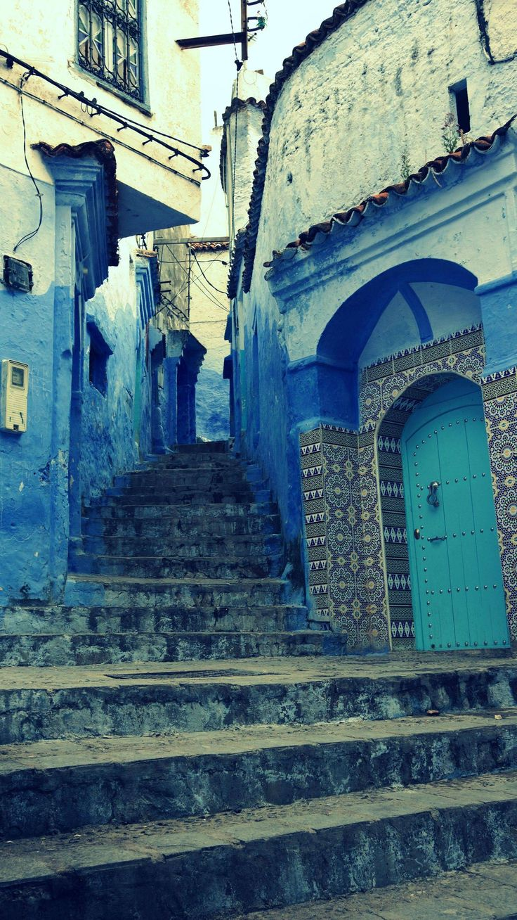 Best Chefchaouen Images On Pinterest Colors Morocco And - Old town morocco entirely blue