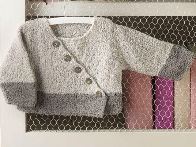 Modèle tricot layette : cache-coeur Anatole