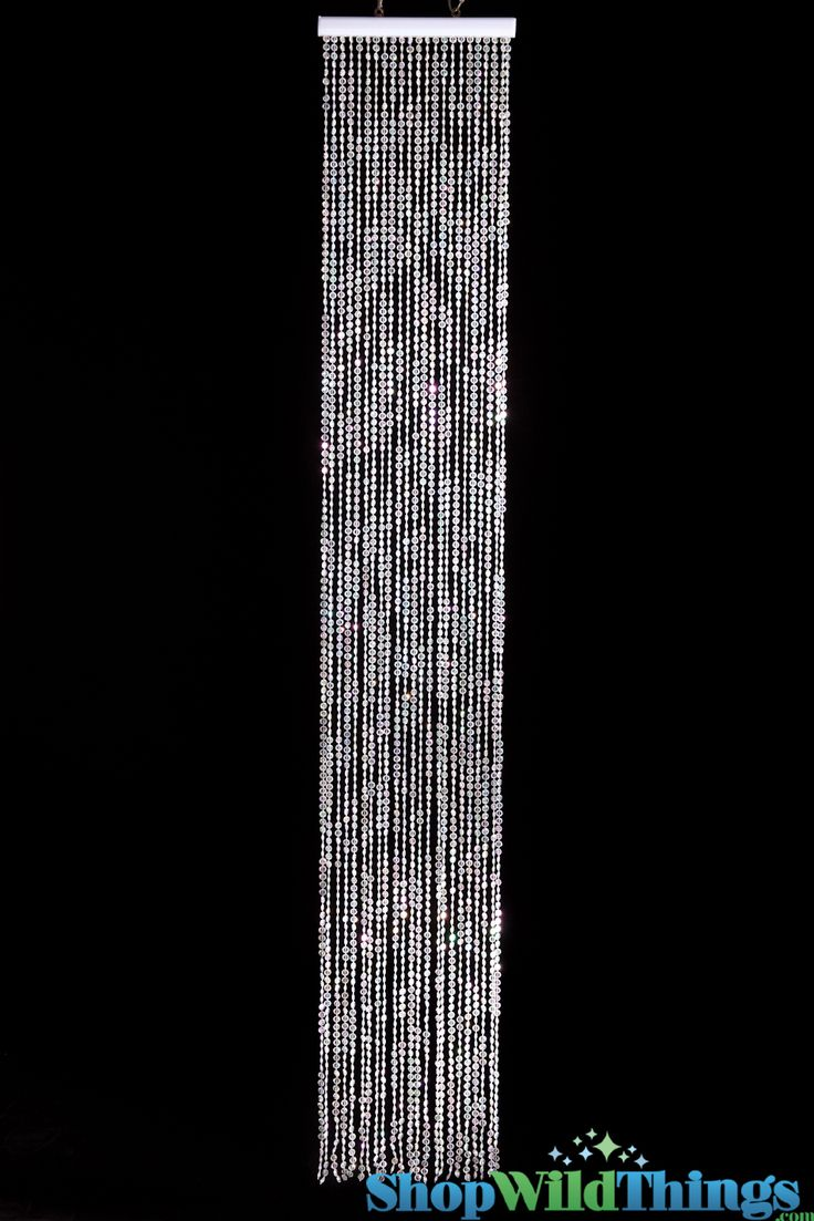 Bead curtain crystal partition curtain finished product crystal bead - Diamonds Beaded Curtain Triple Density Crystal Iridescent 1 Ft X 6 Ft