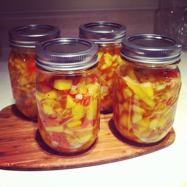 how to make canned mango salsa