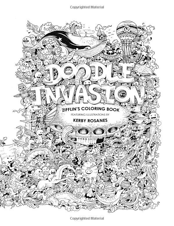Doodle Invasion Zifflins Coloring Book Amazoncouk