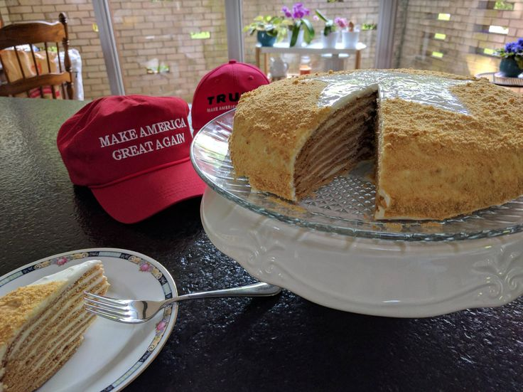 [homemade] I baked a Russian Honey Cake to celebrate US Independence Day