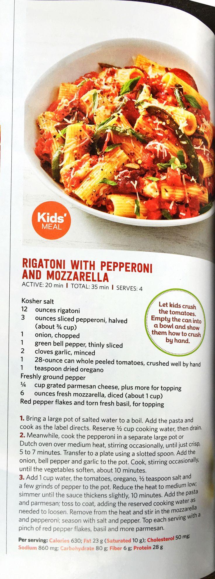 Rigatoni w Pepperoni u0026 Mozzarella 26 best