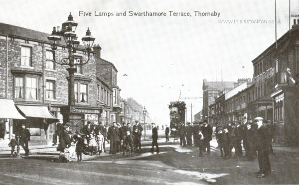 Old Pictures of Stockton 11 - This is Stockton on Tees- five lamps at Thornaby.