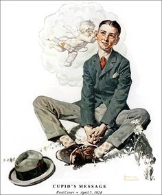 Vintage Magazine - Saturday Evening Post  Art by Norman Rockwell (1924)