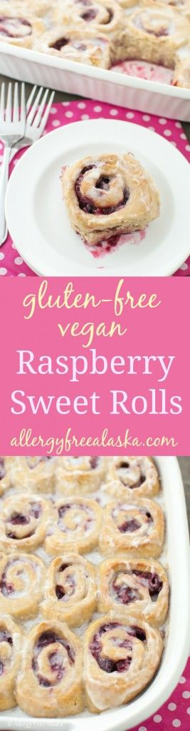 Gluten-Free Vegan Raspberry Sweet Rolls Recipe from Allergy Free Alaska