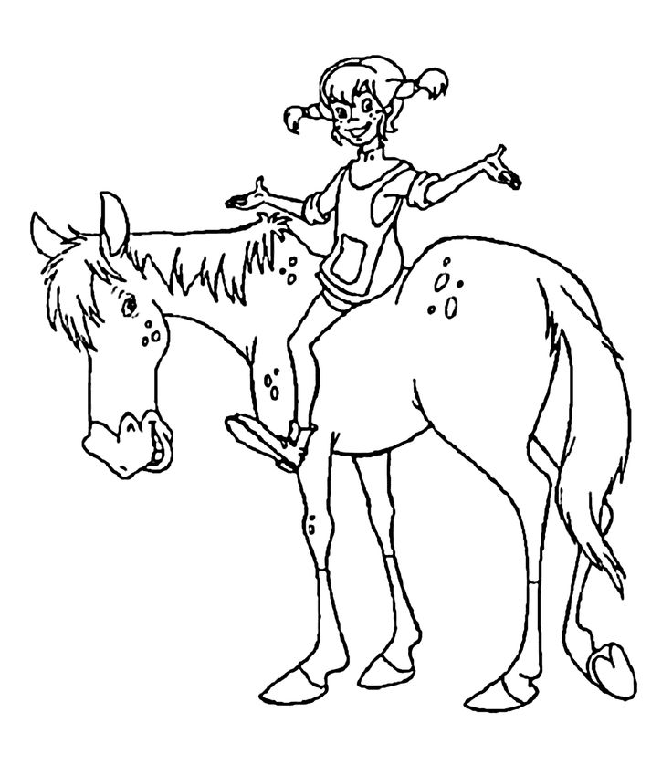 7 best Pippi Longstocking Coloring Pages images on
