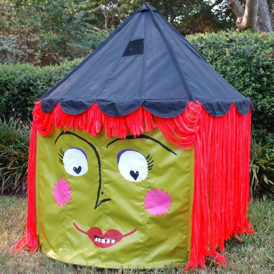 Cast a spell on an innocent little children's tent and turn it into witch.