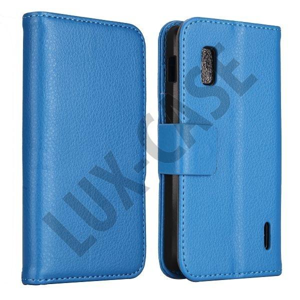 FlipStand Google Nexus 4 Leather Case (Ljus Blå)